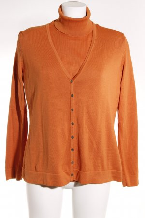 Peter Hahn Pullover Twin Set dunkelorange Casual-Look