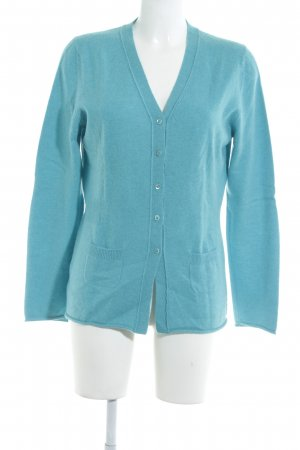 Peter Hahn Strick Cardigan hellblau Casual-Look