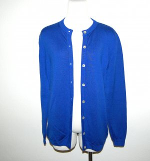 Peter Hahn Strickjacke - Cardigan Blau Gr. 38
