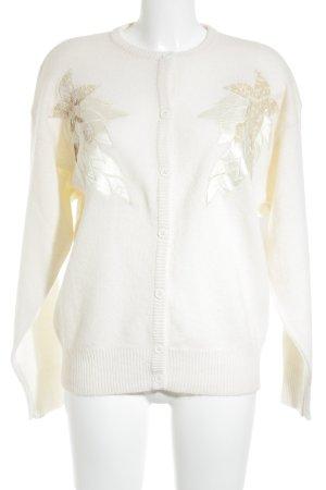 Peter Hahn Giacca in maglia crema modello stella elegante