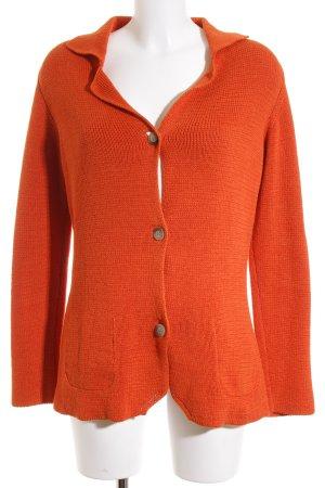 Peter Hahn Strickjacke orange Casual-Look