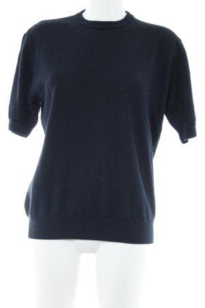 Peter Hahn Camisa tejida azul oscuro look casual