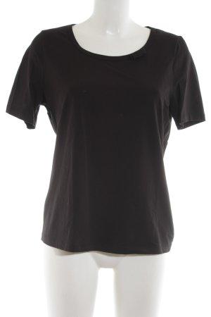 Peter Hahn T-Shirt schwarz schlichter Stil