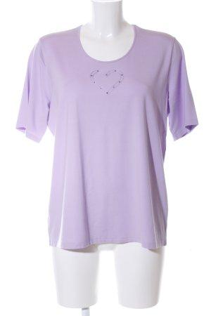 Peter Hahn T-Shirt lila Casual-Look