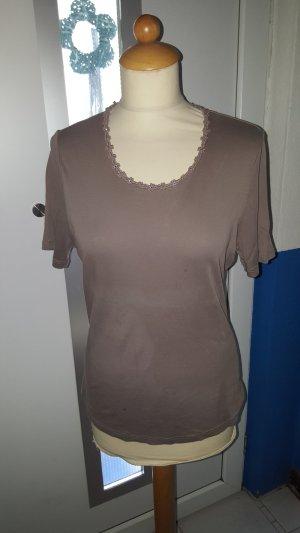 Peter Hahn T-Shirt Gr. 42 taupe Swarovski Steine