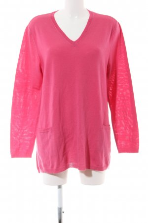 Peter Hahn V-Ausschnitt-Pullover pink Casual-Look
