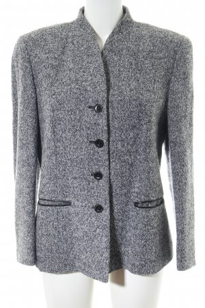 Peter Hahn Blazer in lana grigio chiaro puntinato stile casual