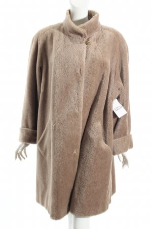 Peter Hahn Cappotto in lana beige stile casual