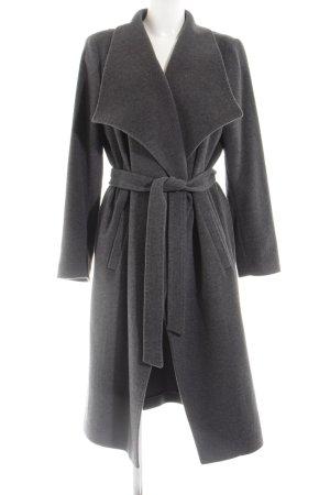 Peter Hahn Cappotto in lana grigio chiaro stile professionale