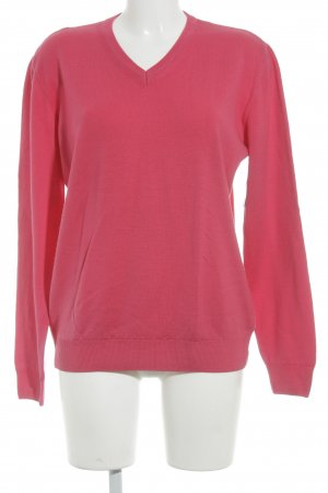 Peter Hahn Wollpullover magenta Casual-Look