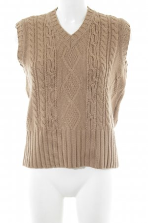 Peter Hahn Cable Sweater light brown casual look