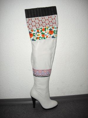 Peter Jensen (Topshop) High Leg Boot weiß