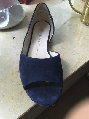 Peter Kaiser Peep Toe ballerina's donkerblauw