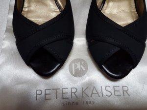 Peter Kaiser 40,peep toe,schwarz