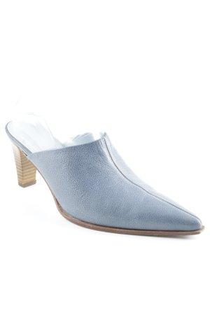 Peter Kaiser Mule à talon bleu azur style extravagant