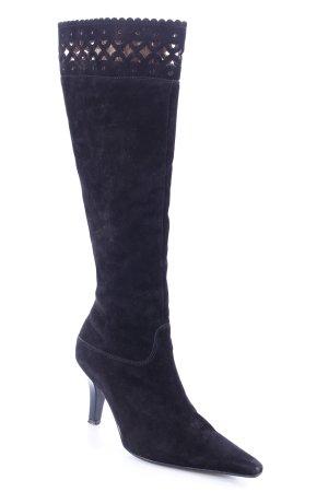 Peter Kaiser Absatz Stiefel schwarz schlichter Stil