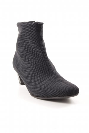 Peter Kaiser Booties black check pattern casual look