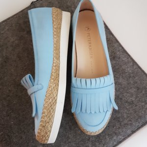 Peter Kaiser Moccasins baby blue-azure leather