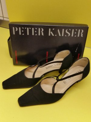 Peter Kaiser Pumps met bandjes zwart Leer