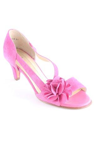 Peter Kaiser High Heel Sandaletten magenta Romantik-Look