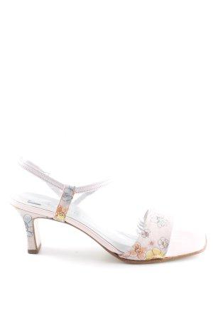 Peter Kaiser Sandalias de tacón alto rosa estampado floral elegante