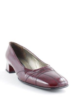 Peter Kaiser High Heels bordeauxrot Business-Look