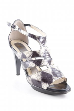 Peter Kaiser High Heels schwarz-creme Animalmuster Reptil-Optik