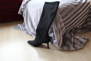 Peter Kaiser High Heel Boots black mixture fibre