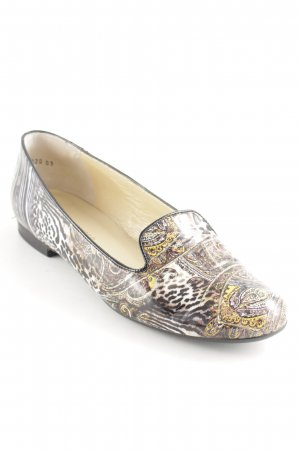 Peter Kaiser Patent Leather Ballerinas abstract pattern extravagant style