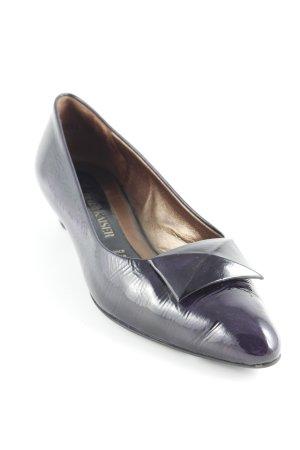 Peter Kaiser Patent Leather Ballerinas dark violet elegant