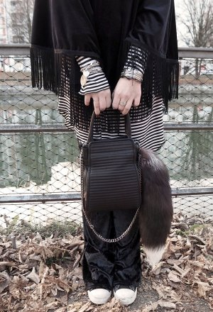 Peter Kaiser Shopper black leather