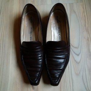 Peter Kaiser Loafers 4.5 DE37.5 || Braunes Glattleder || Slipper Halbschuhe