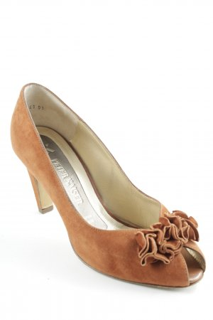 Peter Kaiser Peeptoe Pumps cognac Casual-Look