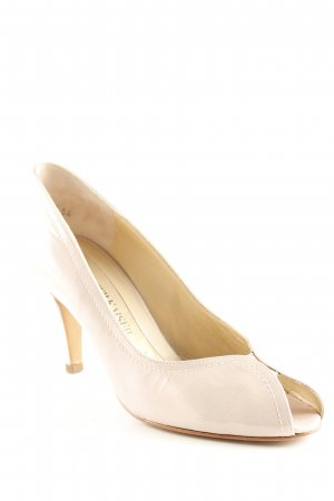 Peter Kaiser Peeptoe Pumps creme Business-Look