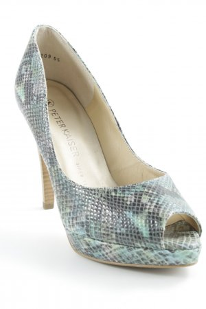 Peter Kaiser Peeptoe Pumps mehrfarbig Reptil-Optik