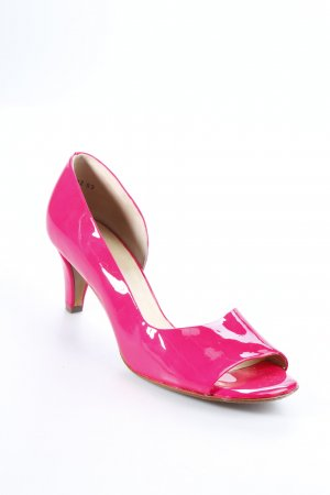 Peter Kaiser Peeptoe Pumps neonpink Lack-Optik