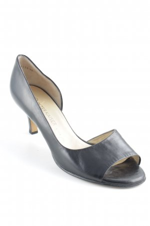 Peter Kaiser Peeptoe Pumps schwarz Business-Look