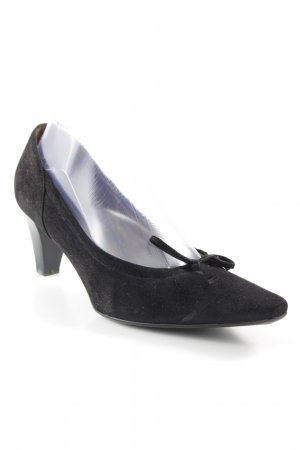 Peter Kaiser Peeptoe Pumps schwarz Casual-Look