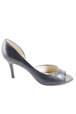 Peter Kaiser Peep Toe Pumps black simple style