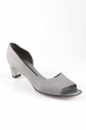 Peter Kaiser Peeptoe Pumps silberfarben-grau Business-Look