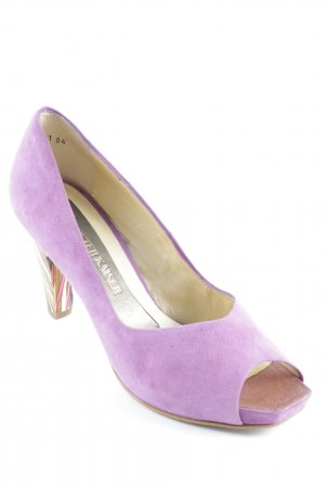 Peter Kaiser Peeptoe Pumps violett Casual-Look