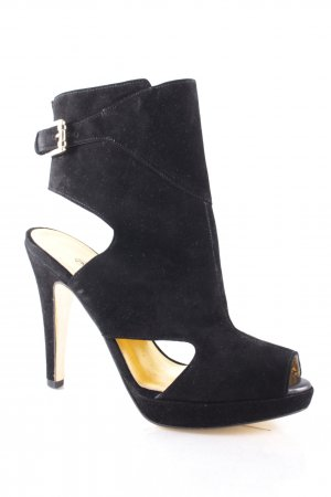 Peter Kaiser Platform High-Heeled Sandal black rockabilly style