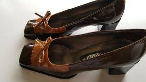 Peter Kaiser Pumps met sleehak bruin-cognac