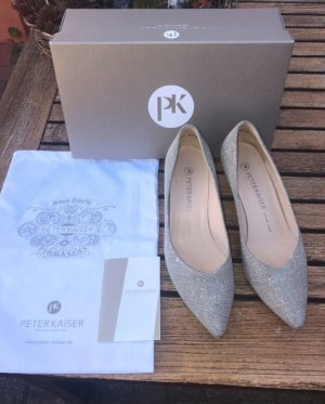Peter Kaiser Pumps in Silber /Glitzer