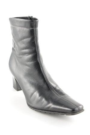 Peter Kaiser Reißverschluss-Stiefeletten schwarz schlichter Stil
