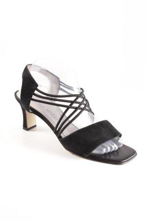 Peter Kaiser Riemchen-Sandaletten schwarz schlichter Stil