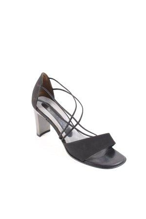 Peter Kaiser Riemchen-Sandaletten schwarz-silberfarben Elegant