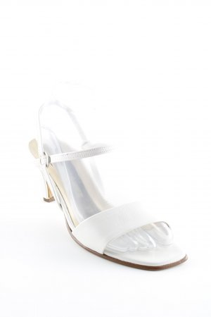Peter Kaiser Strapped High-Heeled Sandals white wet-look