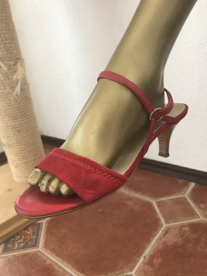 Peter Kaiser Strapped High-Heeled Sandals red