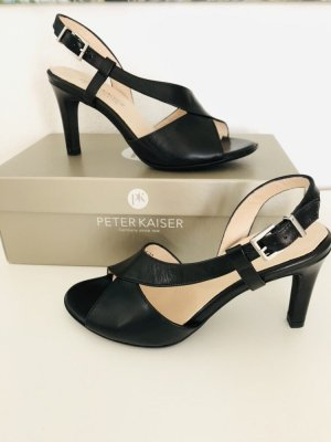 Peter Kaiser Strapped High-Heeled Sandals black leather